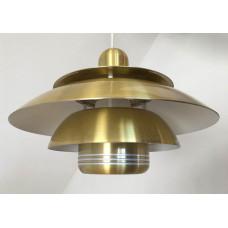 Vintage Deense designlamp messing